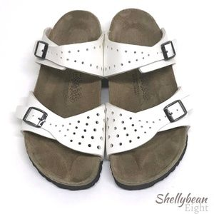 BIRKENSTOCK Birki's Freeport WHITE Sandals 38 7 N